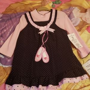 2 PC shirt and dress set